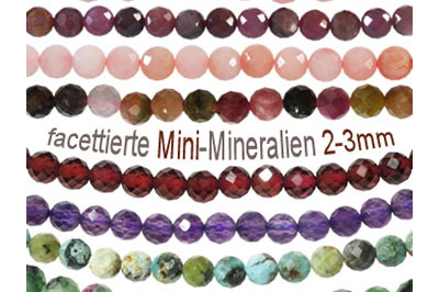 very small (2mm and 3mm) faceted minerals beads, gemstone beads and stone beads